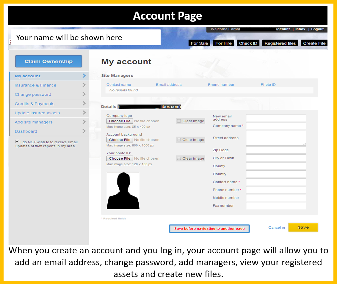 How to view and amend your account details?